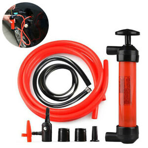 Manual Oil Pump Siphon Tube Car Hose Fuel Gas Extractor Transfer Sucker V6w2