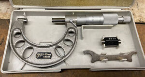 Nsk Metric Micrometer 25 50mm Tungsten Carbide W Bonus Starrett Thread