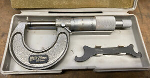 Nsk Micrometer 0 25mm W Case Tungsten Carbide