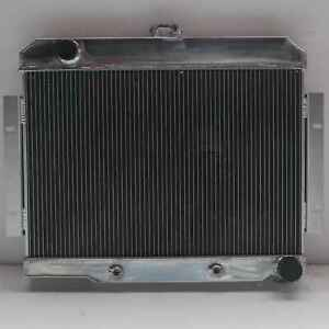2rows Aluminum Radiator For Jeep Cj Series 70 85 Chevy V8 Swap 40mm At Mt 1919e