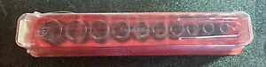 New Snap on 12pc 3 8 6pt Sae Flank Drive Semi deep Impact Socket Set