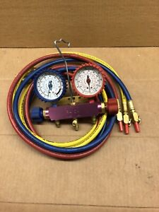 Imperial Hvac A c Gauges With Quick Release Hoses Usa Made fully Functional