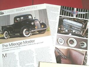 G 1937 Chevrolet Pickup Truck 3 Pages Info