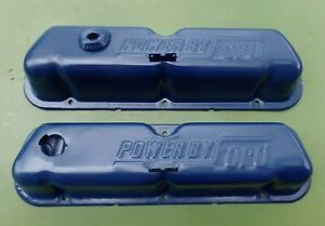 Set Oem 1968 1969 1970 1971 Oem Ford Mustang Cougar 289 302 351w Valve Covers