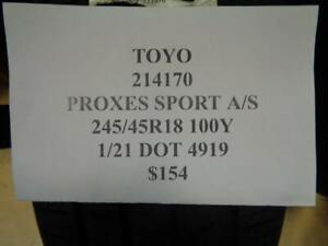1 New Toyo Proxes Sport A s 245 45 18 100y Tire 214170 Q1
