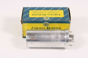 Cornell dubilier Upt4145 Can Capacitor 40 10 80 Mfd 450 200 Vdc New Old Stock