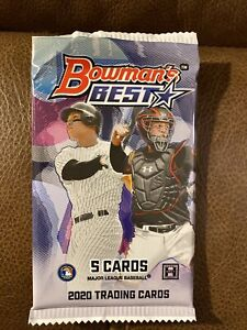 1x Pack 2020 Bowmans Best Sealed Hobby Packs $15.00