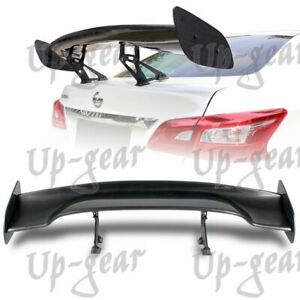 Type 3 Universal 57 Carbon Look Abs Gt Style Trunk Spoiler Wing Aluminum Leg