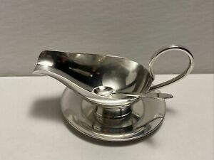 Vintage 950 Sterling Silver Japanese Hibachi Salt Cellar With Spoon And Plate