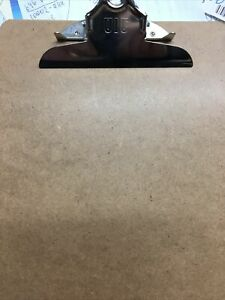 Lot 18 officemate Hardboard Clipboard Holds 9x12 Brown 83500