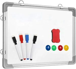 Dry Erase White Board 12 X 16 Magnetic Hanging Double sided Whiteboard Wall