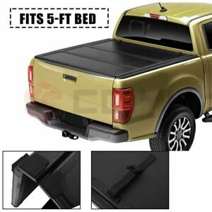 5ft Hard Tri Fold Truck Bed Tonneau Cover For 2019 Ford Ranger Crew Cab Pickup