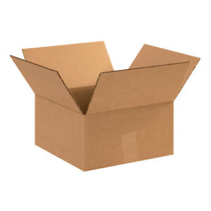 12 X 12 X 6 Flat Corrugated Boxes Ect 32 Brown Shipping moving Boxes 25 bundle
