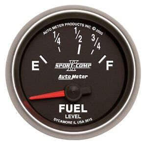 Autometer 3615 Sport comp Ii Electric Fuel Level Gauge