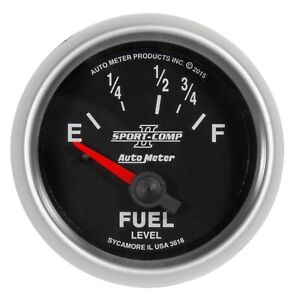 Autometer 3618 Sport comp Ii Electric Fuel Level Gauge