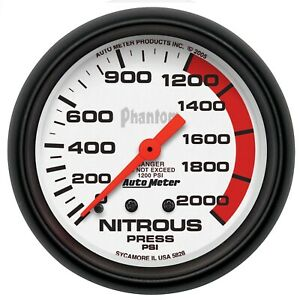 Autometer 5828 Phantom Mechanical Nitrous Pressure Gauge