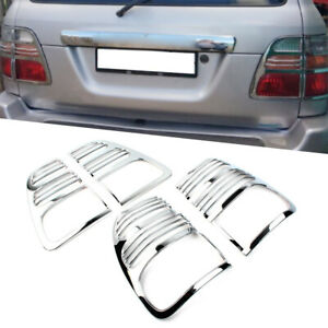Chrome Taillight Rear Lamp Covers Trims Fit 1998 2005 Toyota Land Cruiser Fj100
