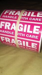 Fragile Handle With Care 100 Labels Stickers Waterproof Ships Fast From The Usa
