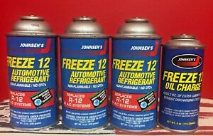 Freeze 12 3 12oz Can R12 Refrigerant Replacement W 1 Oil Usa Made Cleburne Tx Fp