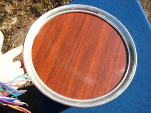 Vtg Revere Sterling Silver Formica Tray 12 Diameter Mid Century Mod Bar Ware