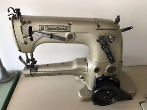Union Special 31200 Two Needle Up arm Taper W folder Industrial Sewing Machine