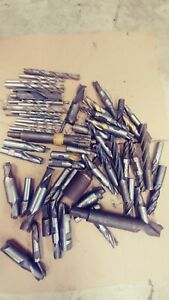 Lot Misc Hss End Mills Roughing Mills 1 2 To 1 Approx 25 Mills 12 Drills