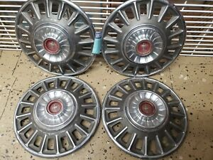 1968 Ford Mustang Oem Deluxe 14 Wheel Covers Hubcaps Set Of 4