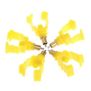 5pc Poultry Chicken Rabbit Automatic Water Drinking Nipples Feeder Screw Drinker