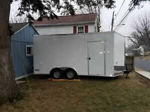 Custom built 2018 8 5 X 16 Used Marketing Trailer mobile Boutique Unit For S