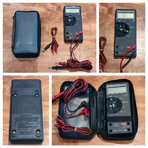 Fluke 77 an Digital Multimeter With Test Leads And Original Protective Case