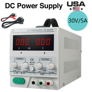 New Ps 305dm 30v 5a Variable Linear Dc Power Supply Switching Lab Equipment Use