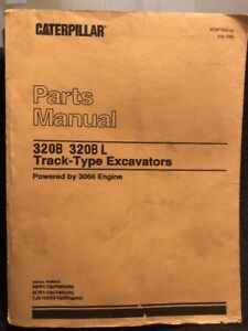 Cat Caterpillar 320b 320b L Excavator Parts Manual 5br 6cr Xebp7645 02 July 1999
