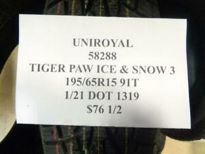 2 New Uniroyal Tiger Paw Ice And Snow 3 195 65 15 91t Tires 58288 Q1