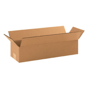18 X 6 X 4 Long Corrugated Boxes Ect 32 Brown Shipping moving Boxes 25 bundle