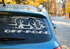 Rhino Head 4x4 Decal Bumper Window Sticker For Off Road Cars 4wd 9 Colour Choice