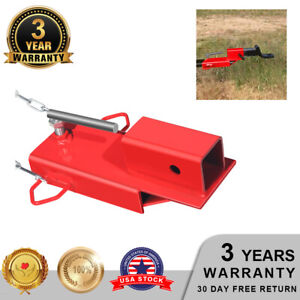 Clamp On Forklift Hitch Receiver Pallet Fork Trailer Towing Adapter 2 W Chain