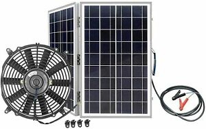 Solar Panel 12 Exhaust Fan 3000cfm Industrial Speed Wall Mount Garage Attic