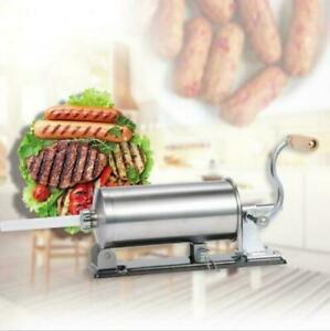 Horizontal Sausage Stuffer 4 8l Maker Meat Filler Commercial New Stainless Steel