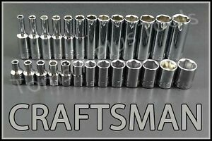 Craftsman 26pc Standard Deep 1 4 Metric Mm 6pt Ratchet Wrench Socket Set