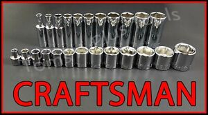 Craftsman Hand Tools 24pc Standard Deep 3 8 Sae 6pt Ratchet Wrench Socket Set
