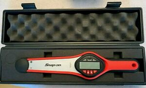 New Snap On Tools Electronic Dial Torque Wrench Ratchet 3 8 Dr Digital Led
