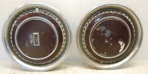 Two 2 Used 1970s 1980s Oldsmobile Logo 15 Wheel Cover Hubcaps