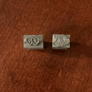 Wedding Bells And Hearts Die Stamps For Kingsley Foil Stamp Machine