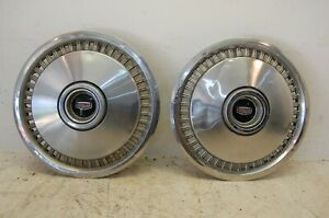 Set Of Two 2 1970s Ford Galaxie Fairlane Ltd 15 Wheel Covers Hubcaps