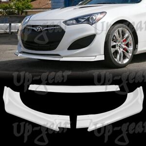 For 2013 2016 Hyundai Genesis Coupe Ks style Painted White Front Bumper Body Lip