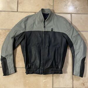 Bmw Motorcycle Leather Jacket L Vintage Cafe Racer