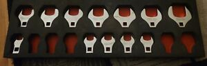 Snap On Tools Metric 12pc 1 2 Dr Open End Crowfoot Set 20mm 46mm Crow Foot Scom