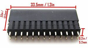 Stackable Header For Raspberry Pi Extra Tall 2x13 Female 2 54mm 100 Pitch