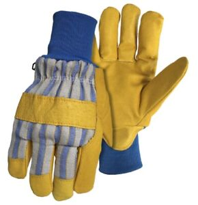 Boss 4341c Kids Poly insulated Grain Pigskin Leather Palm Gloves