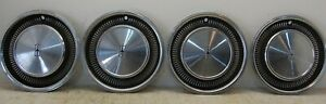 Four 4 1971 1972 Oldsmobile 88 98 16 Wheel Cover Hubcaps W Embossed Logo